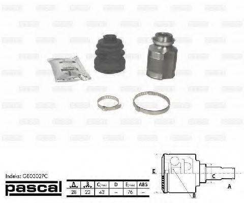 ШРУС PASCAL G80302PC