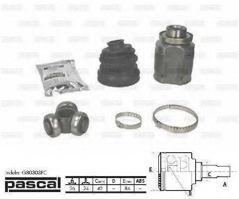 ШРУС внутренний PASCAL G80303PC