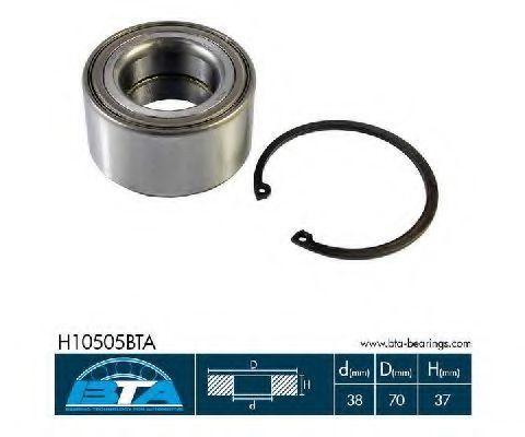 Подшипник ступицы колеса комплект BTA H10505BTA