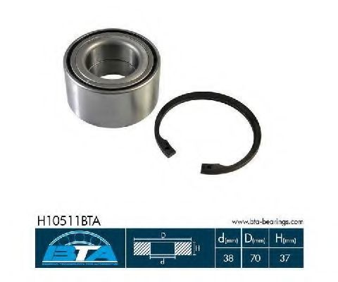 Подшипник ступицы комплект BTA H10511BTA