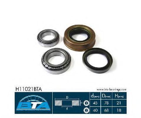 Подшипник ступицы колеса комплект BTA H11021BTA
