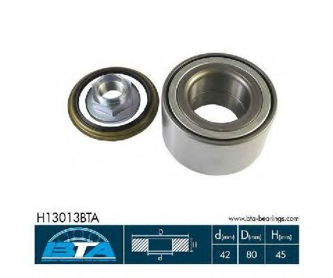 Подшипник ступицы колеса комплект BTA H13013BTA