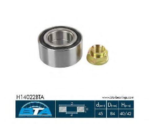 Подшипник ступицы комплект BTA H14022BTA