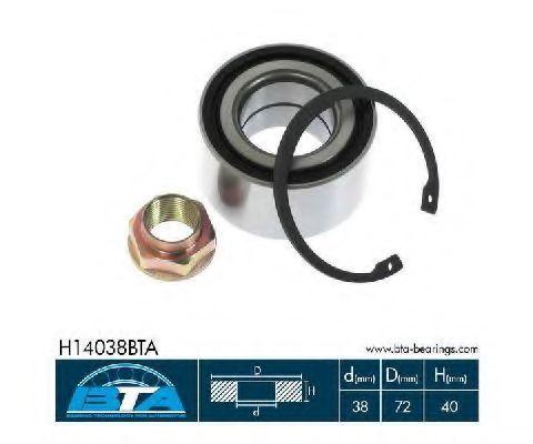 Подшипник ступицы BTA H14038BTA