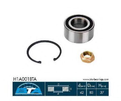 Подшипник ступицы колеса комплект BTA H1A001BTA