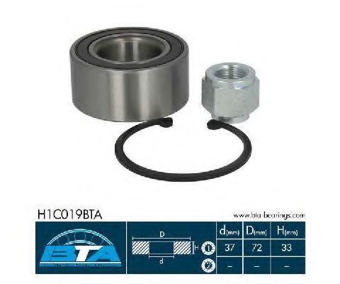Подшипник ступицы комплект BTA H1C019BTA