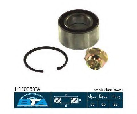 Подшипник ступицы колеса комплект BTA H1F008BTA