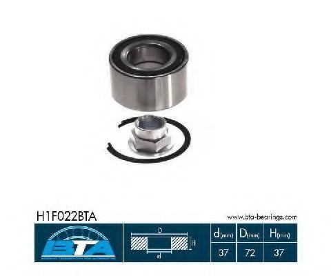 Подшипник ступицы колеса комплект BTA H1F022BTA