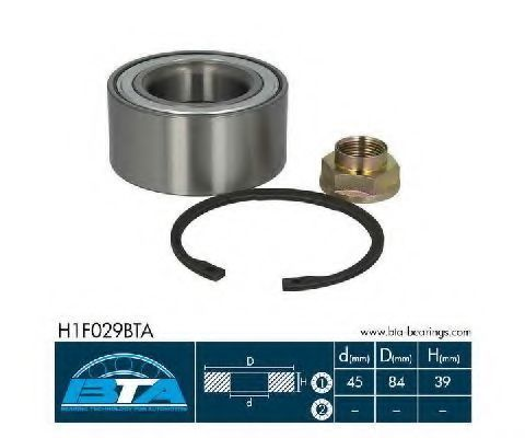 Подшипник ступицы комплект BTA H1F029BTA