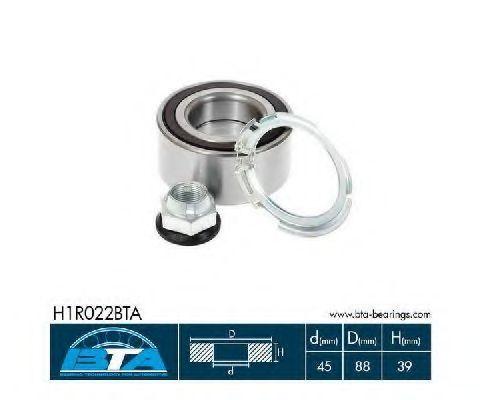 Подшипник ступицы комплект BTA H1R022BTA