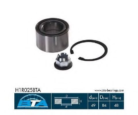 Подшипник ступицы комплект BTA H1R025BTA