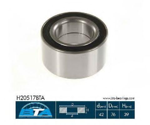 Подшипник ступицы комплект BTA H20517BTA