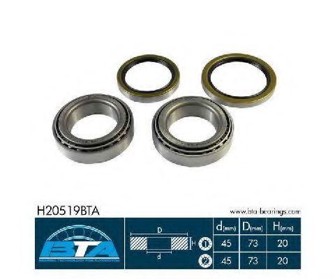Подшипник ступицы комплект BTA H20519BTA