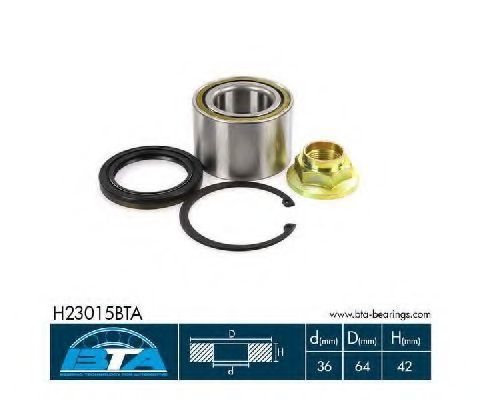 Подшипник ступицы комплект BTA H23015BTA