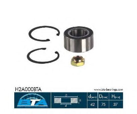 Подшипник ступицы комплект BTA H2A000BTA
