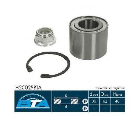 Подшипник ступицы комплект BTA H2C025BTA