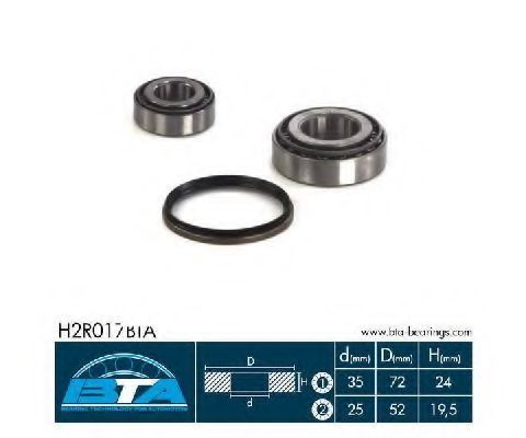 Подшипник ступицы колеса комплект BTA H2R017BTA