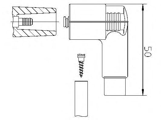 Вилка, распределитель зажигания BREMI 10206W1H