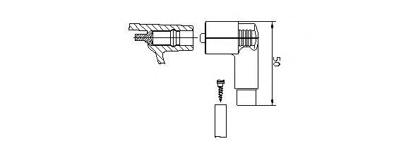 Вилка, распределитель зажигания BREMI 10221VW1