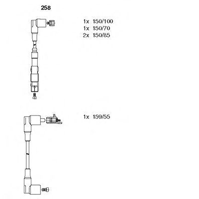 Провода высоковольтные комплект BREMI 258