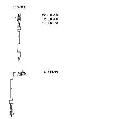 Комплект проводов зажигания BREMI 300136