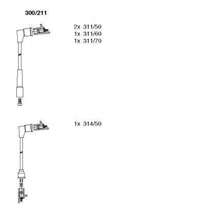 Комплект проводов зажигания BREMI 300211