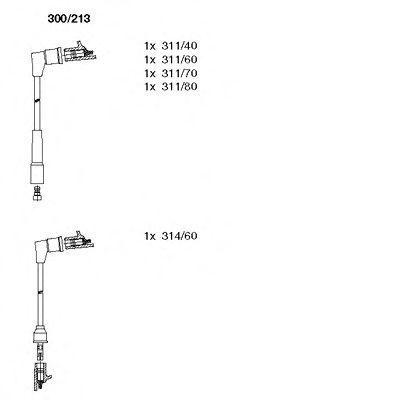 Комплект проводов зажигания BREMI 300213