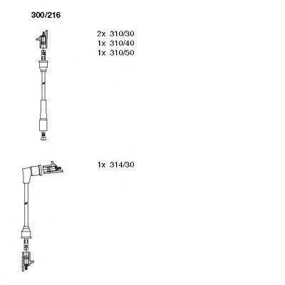 Комплект проводов зажигания BREMI 300216