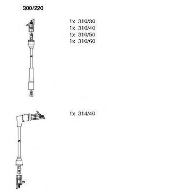 Комплект проводов зажигания BREMI 300220