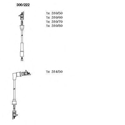 Комплект проводов зажигания BREMI 300222