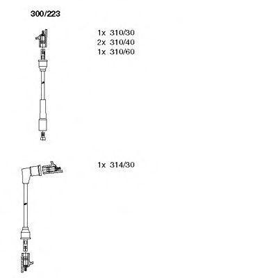 Комплект проводов зажигания BREMI 300223