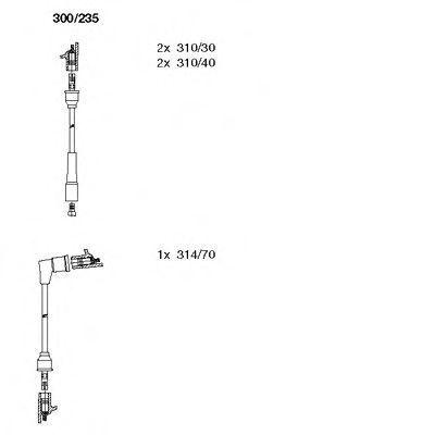 Комплект проводов зажигания BREMI 300235