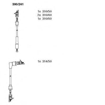Комплект проводов зажигания BREMI 300241