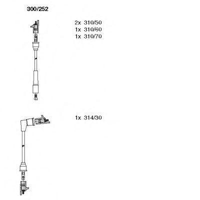 Комплект проводов зажигания BREMI 300252
