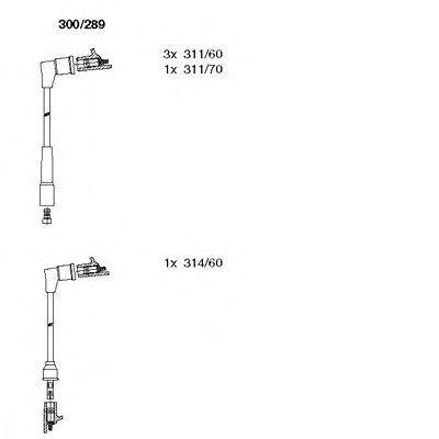 Комплект проводов зажигания BREMI 300289