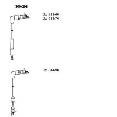 Комплект проводов зажигания BREMI 300298