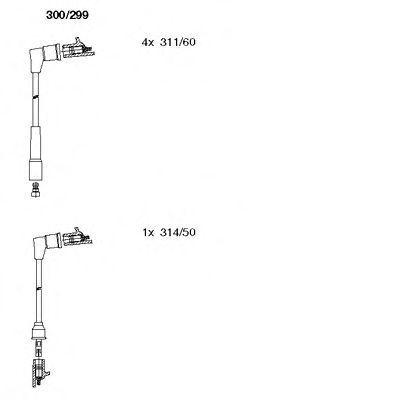 Комплект проводов зажигания BREMI 300299