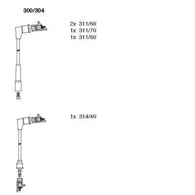 Комплект проводов зажигания BREMI 300304