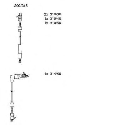 Комплект проводов зажигания BREMI 300315