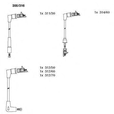 Комплект проводов зажигания BREMI 300316