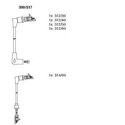 Комплект проводов зажигания BREMI 300317