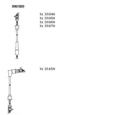 Комплект проводов зажигания BREMI 300320