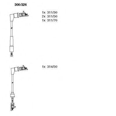 Комплект проводов зажигания BREMI 300326