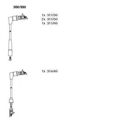 Комплект проводов зажигания BREMI 300330