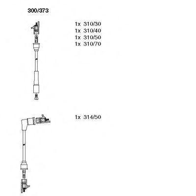 Комплект проводов зажигания BREMI 300373
