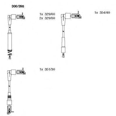Комплект проводов зажигания BREMI 300398