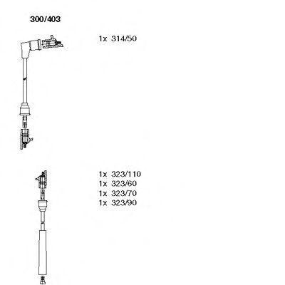 Комплект проводов зажигания BREMI 300403