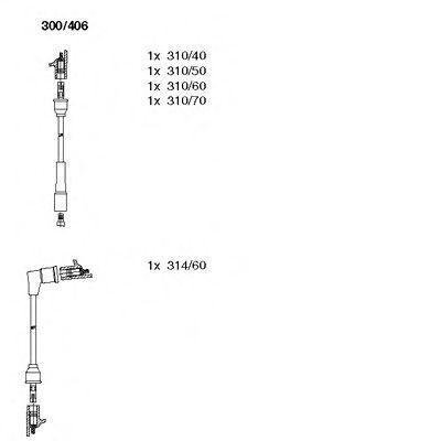 Комплект проводов зажигания BREMI 300406