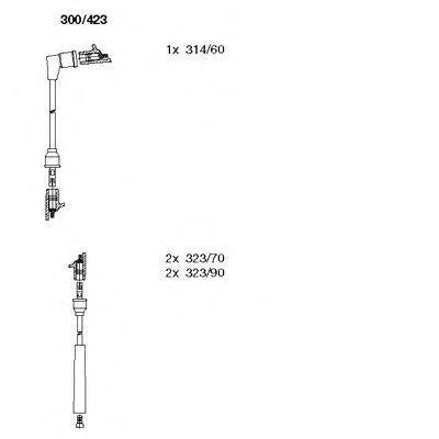 Комплект проводов зажигания BREMI 300423