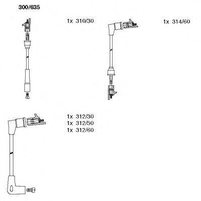 Комплект проводов зажигания BREMI 300635